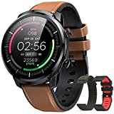 Smartwatch,HOMMIE IP68 Smartwatch Herren Fitness Armbanduhr,Pulsuhr mit Touch Farbdisplay, Schrittzähler,Schlafmonitor,3 Armbänder,für iOS Android