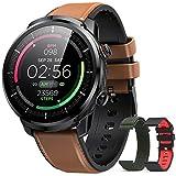 Reloj Inteligente Hombre, Hommie Smartwatch Hombre de Pantalla Táctil Ccompleta Impermeable IP68, Pulsera de Actividad...