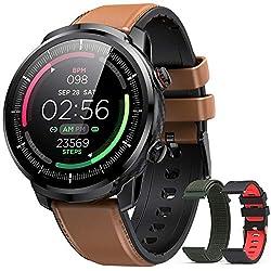 Hommie Smartwatch Uomo, Orologio Smartwatch Uomo IP68, Orologio Fitness di 3 Diversi Cinghie e 9 Sport, Orologio Smartwatch di Cardiofrequenzimetro, Orologio Sportivo per iOS Android Samsung Huawei