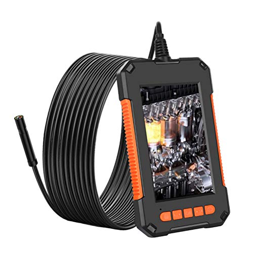 LIDIWEE Endoskopkamera, 1080P Endoskop, HD Inspektionskamera mit 8 Einstellbaren LED-Licht & 4,3-Zoll-IPS-Bildschirm, Rohrkamera, 128G TF Karte, 2600mAh Akku