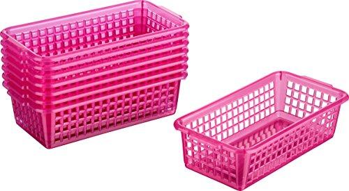 Kigima Haushaltskorb Allzweckkorb 8er Set 0,7l 20x10x5,5 cm Pink
