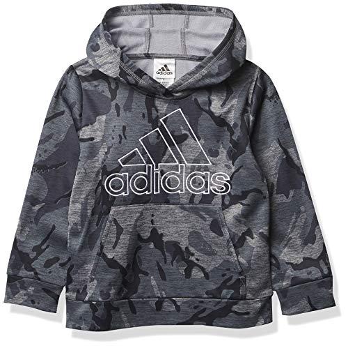 adidas Active Sport Athletic Pullover Hooded Sweatshirt Sudadera con Capucha, Core Camo Gris Heather, 2 años para Niños