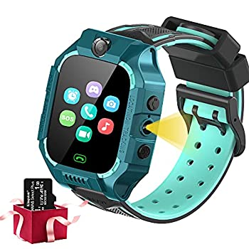 Kids Smart Watch for Boys Girls-Kids Watch with SOS Phone Call 8 Games Camera MP3 Music Player Video Player Flashlight Smart Watch for Kids Birthday Gifts Learning Toys for Children Age 4-12  Green