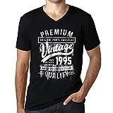 Photo de Homme Graphique 1995 Cadeau d'anniversaire 26 Ans Aged to Perfection Cadeau d'anniversaire Col V Tee Shirt