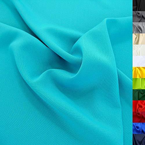 Modestoff / Dekostoff universal Stoff ALLROUND knitterarm - Meterware am Stück (Türkis-Blau)
