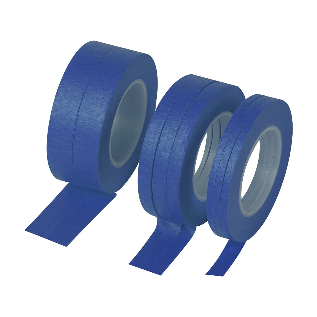 Narrow Masking Tape 8 Colors 1/8, 1/4, 1/2 Smart Selection Total 176yards Decoration Tape Pinstriping Tape Painters Tape, Handy Core 1-1/2