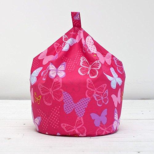 Butterflies Pink Bean Bag Large Childrens Kids Girls Cotton Beanbag