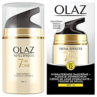 OLAY Total Effects 7-in-1 Spf12 Hydrating Day Cream + Touch of Sunshine, Self-Tanner