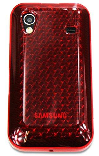 Ektor® Custodia Cover in Silicone con Design Innovativo per Samsung Galaxy Ace S5830 - Rosso