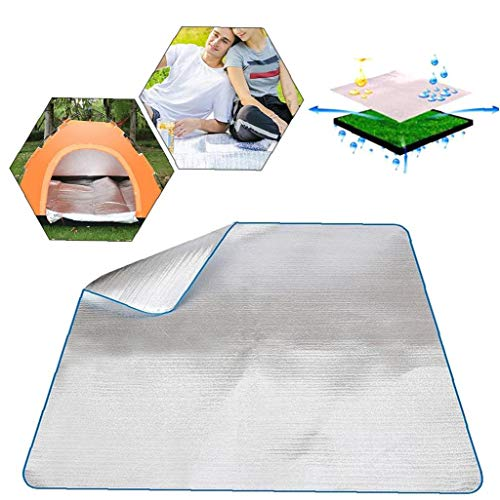 wasserdichte Aluminiumfolie Eva Isomatte Matte Aluminium-Decke Sleeping Pad Schaum Camping Matress für Outdoor Camping Wandern Reisen Picknick