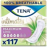 Tena Intimates Maximum Incontinence Pad Long Length,White 117 ct
