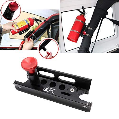(1-Year Warranty) Universal Aluminum Adjustable Roll Bar Fire Extinguisher Mount Bottle Holder For Jeep Wrangler TJ JK JKU JL UTV Polaris RZR Ranger tractors
