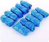 Sumedtec - Pack 100 x Calzas Cubrezapatos Desechables Impermeables Antideslizante Cubiertas de Plástico CPE, Protector de Zapatos Desechables Extrafuerte Talla única