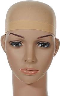 Unisex Stocking Wig Cap Snood Mesh Natural Nude Beige Wig Caps (2pcs)