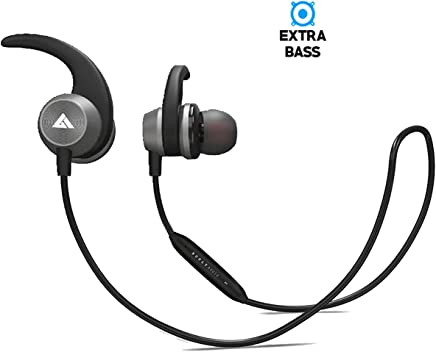 Boult Audio ProBass Space Wireless Bluetooth Earphones with Mic and IPX5 Sweatproof Deep Bass Headphones Mobile Headset (Gray)