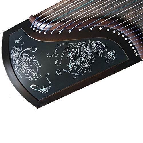 21-Saiten Chinesisches Musikinstrument Ebenholz Guzheng