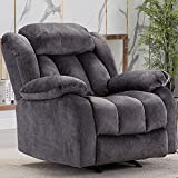 CANMOV Rocker Recliner Chair Manual Heavy Duty Reclining Chair with Contemporary Arms and Back,...