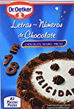 Dr. Oetker Letras y Números de Chocolate, 82 Piezas