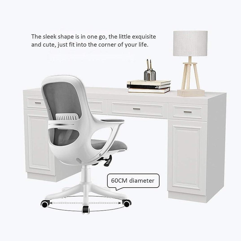 コミットメント貯水池スタジオCHHDオフィスチェア、オフィスチェアコンピュータチェアスイベルレザーデスクチェア人間工学に基づいたリクライニングチェア、高さ調整可能、360°?回転(色:灰色+白(アップグレード))