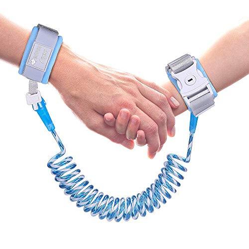 Helper - Pulsera de Seguridad Infantil Antipérdida, con Cierre Elástico, Arnés de Seguridad para Niños (2m/Azul)