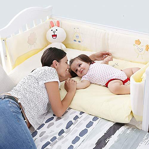 XUNMAIFLB Herausnehmbare Jugendbett, Kids Kinderbett, Multifunktionale, Baby Bett/Kinderbett/Spiel Bett Mit Roller (innendurchmesser: 1200 * 600mm) Sicherheit