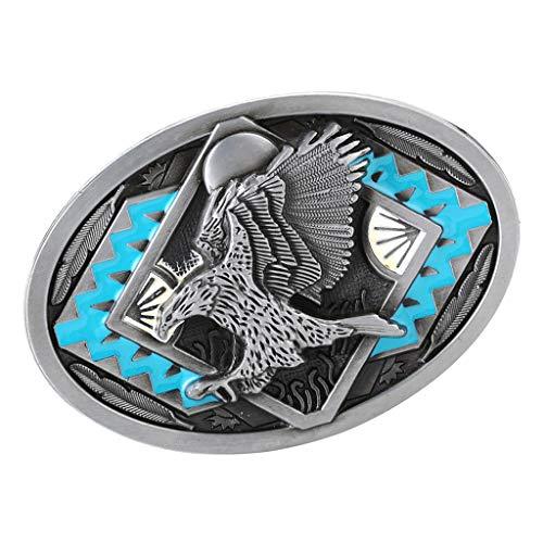 Baoblaze Hebilla de Cinturón de Toro/Águila Estilo Vaquero Occidental Accesorios de Ropas para Hombres - Estilo 1