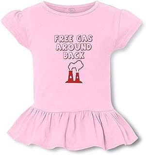 Free Gas Around Back Short Sleeve Toddler Cotton Girly T-Shirt Tee
