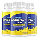 (3 Pack) One Shot Keto Pills Oneshot Keto 1 Shot Tank Fat Advanced Weight Loss Formula Supplement As Seen on TV, Exogenous Ketones for Rapid Ketosis (180 Capsules)