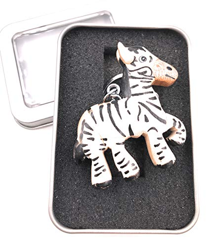 Schlüsselanhänger Zebra Tier Steppenpferd Bergzebra Metall Anhänger Charm