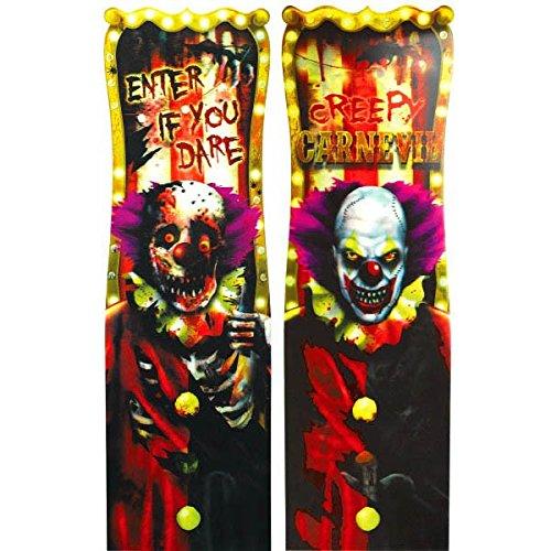 amscan Creepy Carnival Linsenraster Vinyl Poster Halloween Party Tür Dekoration–94cm
