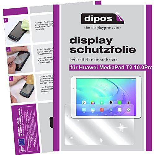 dipos I 2X Schutzfolie klar kompatibel mit Huawei MediaPad T2 10.0 Pro Folie Bildschirmschutzfolie