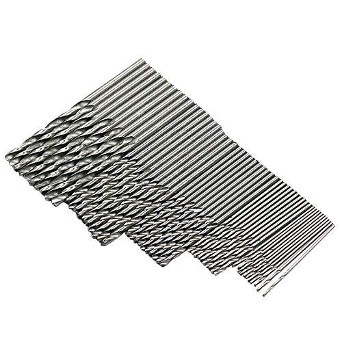 Titanbeschichteter Spiralbohrer Bohrer HSS Titan-beschichteter Metallbohrer Spiralbohrer aus Hochgeschwindigkeitsstahl 1/1,5/2,0/2,5/3 mm Titan-beschichteter Spiralbohrer Hohe Stahl (50pcs)