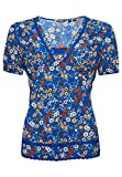 Superdry S/S Woven Top Blouse, Blau Floral, S para Mujer