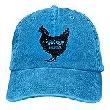 Hoswee Baseballmütze Hüte Kappe Unisex Baseball Cap Hut Huhn Whisperer gewaschen Denim Trucker Hut für Frauen