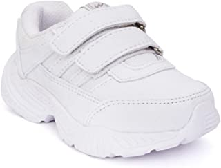 Campus Action Unisex White School Shoes | 3-7 Years | Lightweight | (11)