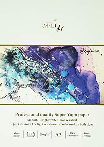SMLT 3PS-10 (200)/PRO - Pad professionale A3 con carta sintetica Super Yupo, 10 fogli