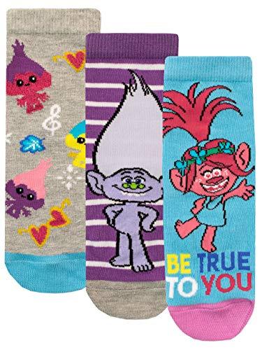 Trolls Mädchen Socken Packung mit 3 mehrfarbig 24-26