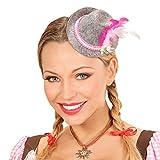 Amakando Sombrerito Fedora Oktoberfest | Mini Sombrero con Plumas | Sombrero Bávaro | Gorra de Fieltro Tirolesa
