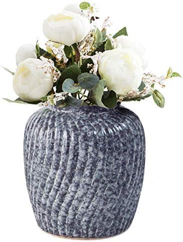 Modern Decorative Blue Ranking TOP15 Glazed Ceramic Flower P 25% OFF Home Vases Decor