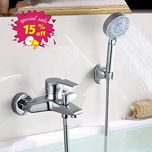 Elegant Zeitgenössische Chrom Armatur Badewanne Wasserhahn inkl. Wandhalterung mit Handbrause für Bad Badezimmer