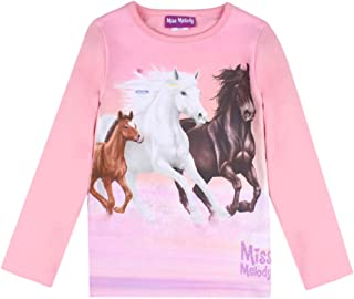 Miss Melody Niña T-Shirt, Manga Larga, Rosa