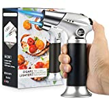 Blow Torch, Professional Kitchen Cooking Torch with Lock Adjustable Flame Refillable Mini Blow Torch...