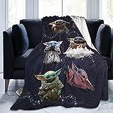 Manta de Baby Yoda Manta de Franela de Forro Polar súper Suave para niños y Adultos Manta para sofá Cama Todas Las Estaciones 60'x50'
