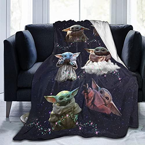 """Manta de Baby Yoda Manta de Franela de Forro Polar súper Suave para niños y Adultos Manta para sofá Cama Todas Las Estaciones 60""""x50"""""""