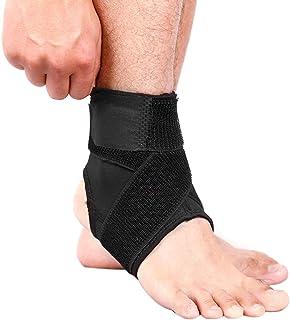 Andoer Suporte para tornozelo esportivo elástico de alta proteção Equipamento esportivo Segurança para corrida Basquete Su...