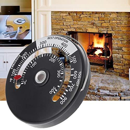 Qiman STOVEPIPE THERMOMETER Holzofen Pelletofen Verbrennungsanzeige Heizung Temperaturanzeige Kaminofen Ofenventilator Thermometer