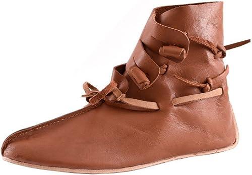 Battle Merchant - zapatos de cordones de Piel para hombre marrón marrón