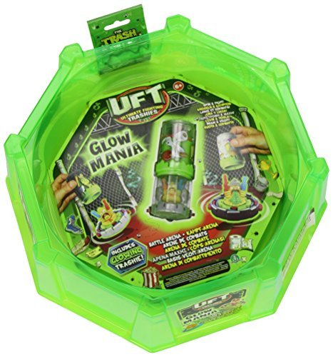 Trash Pack The Ultimate Fighting Trashies Glow Mania Battling Arena with 1 Spin Bin by The