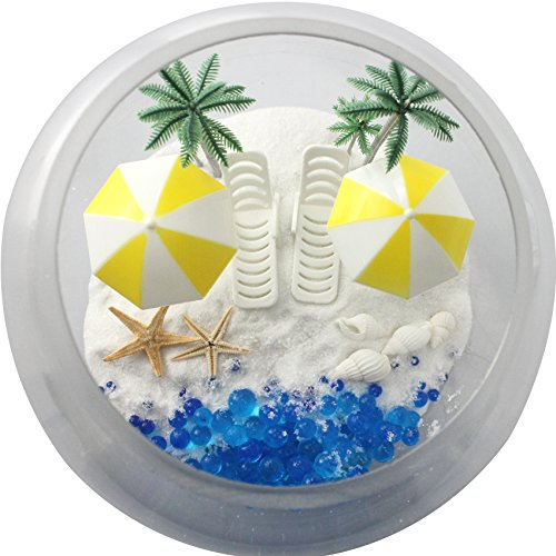 musykrafties Plastic Zomer Strand Stoelen met Paraplu's Aquarium Terrariums Miniatuur Tuin Fee Tuin Poppenhuis Taart Topper Cupcake Decoratie
