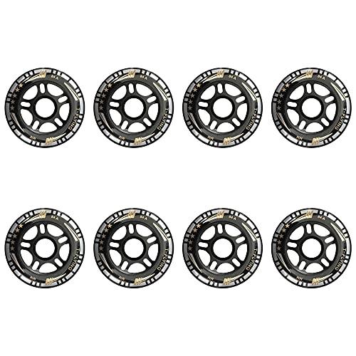 TGHY 8 Piezas Rueda de Patín en Línea de 84mm Dureza 84A Rueda de Repuesto de PU Negra para Patines en Línea Patines de Hockey Patines de Ruedas